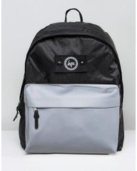 Hype - Backpack In Black With Reflective Pocket - Lyst