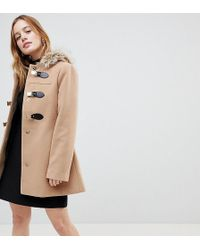 ASOS - Duffle Coat With Faux Fur Hood - Lyst