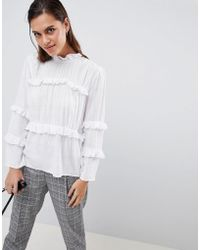 c66a21cca708a7 Y.A.S Emba Off Shoulder Blouse in White - Lyst