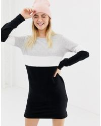 ONLY - Dorit Color Block Sweater Dress - Lyst