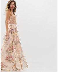 Needle & Thread - Falda larga de flores en rosa cuarzo de - Lyst