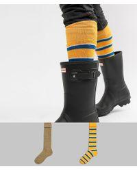 ASOS DESIGN - Festival Welly Socks In Retro Stripe Design 2 Pack - Lyst