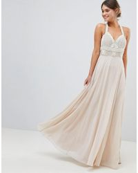 ASOS - Premium Embellished Maxi Dress With Pearl Basque - Lyst