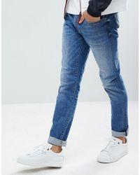 Armani Exchange - J13 Slim Fit Light Wash Stretch Jeans - Lyst