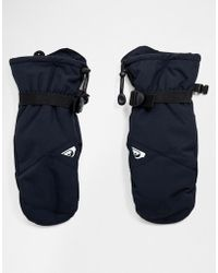 Quiksilver - Mission Ski Mitts In Black - Lyst