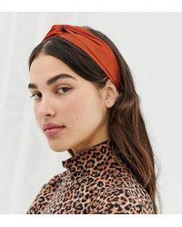 Monki - Satin Headband In Rust - Lyst