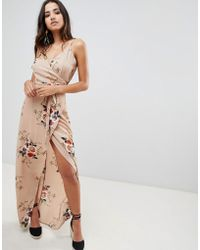 cce2f78b PrettyLittleThing Square Neck Floral Maxi Dress in White - Lyst