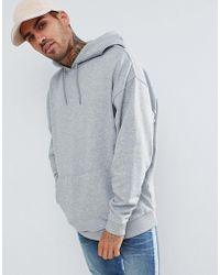 ASOS - Oversized Hoodie In Grey Marl - Lyst