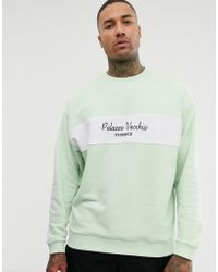 f6b0144229cb ASOS - Oversized Sweatshirt With Towelling Panel And Text Print - Lyst