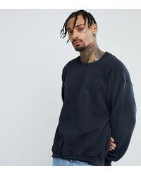 Reclaimed (vintage) Oversize-Sweatshirt in verwaschenem Schwarz