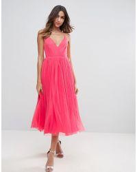 ASOS - Pinny Extreme Tulle Mesh Midi Dress - Lyst