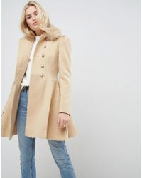 4ad91c3837e9 Lyst - ASOS Asos Oversized Knitted Coat In Wool Blend With Shawl ...