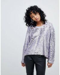 Religion - Oversized Sweatshirt In All Over Embellishment - Lyst