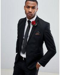 Boohoo - Skinny Fit Suit Jacket In Black - Lyst
