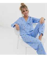 fd6314154e227 ASOS Asos Design Curve Alice In Wonderland Short Pyjama Set In 100% Modal -  Lyst