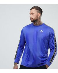 PUMA - Long Sleeve Tape Football Top In Purple Exclusive To Asos - Lyst