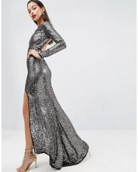 f8d4a0d0db8 ASOS - Asos Red Carpet Embellished Sequin Maxi Dress With High Low Hem -  Lyst