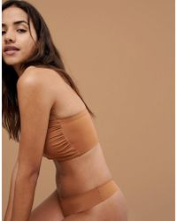 Nubian Skin - Naked Collection Nude Bandeau Bra In Warm - Lyst