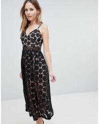 Oh My Love - Applique Cami Midi Dress - Lyst