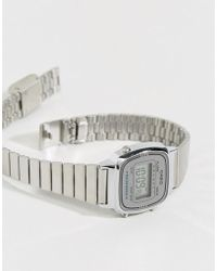 G-Shock - Silver Mini Digital Watch La670wea-7ef - Lyst