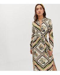 Stradivarius Shirt Dress In Chain Print - Multicolor