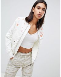 Maharishi - Upcycled Arctic Rib Jacket With Blossom Embroidery - Lyst