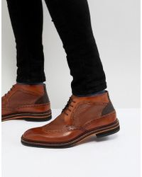 Ted Baker - Cinika Short Brogue Boots - Lyst