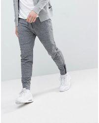 Abercrombie & Fitch - Black Label Sports Cuffed Sweatpants In Dark Gray Marl - Lyst