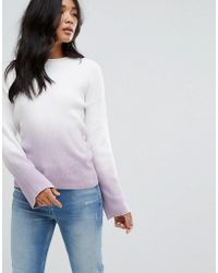 Warehouse | Fluted Sleeve Dip Dye Jumper | Lyst