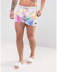 Jaded London - Swim Shorts In Tie Dye - Lyst
