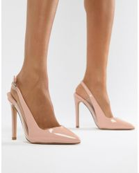 f22539abbee4 Miss Kg Caela Floral Embellished Heeled Court Shoes - Nude Pink in ...