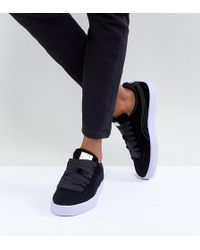 PUMA - Velour Basket Classic Trainers In Navy - Lyst