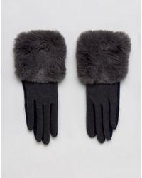 Vincent Pradier - Color Block Gloves With Fur Trim - Lyst
