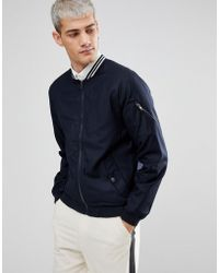 Casual Friday - Bomber Jacket In Pinstripe - Lyst