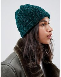 ASOS - Chenille Rib Turn Up Beanie - Lyst