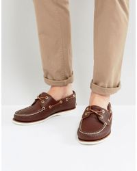 Timberland - Classic Leather Boat Shoes - Lyst