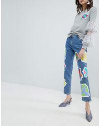 House of Holland - Cross Patch Boyfriend Jeans - Lyst