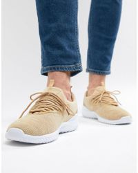 New Look - Knitted Trainers In Stone - Lyst