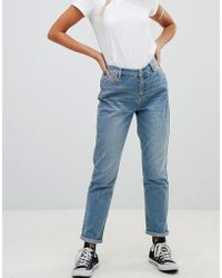 Urban Bliss - Mom Jeans In Light Wash - Lyst