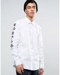 SYSTVM - Sleeve Print Shirt - Lyst