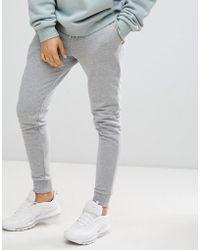 ASOS - Skinny joggers In Grey - Lyst