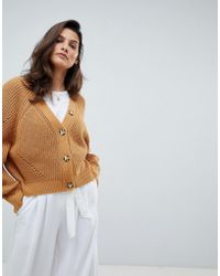 Micha Lounge - Oversized Cardigan With Contrast Buttons - Lyst