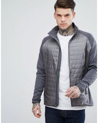 Marmot - Variant Quilted Hybrid Jacket In Grey - Lyst