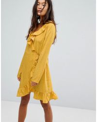 Vila | Spotty Wrap Dress | Lyst