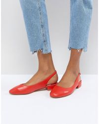 Faith - Amelia Red Sling Back Ballet Shoes - Lyst