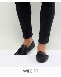 ASOS - Design Driving Shoes In Black Leather With Tassels - Lyst