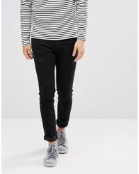 SELECTED - Skinny Jeans With Repairs - Lyst