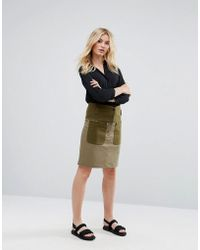 MAX&Co. - Max&co Deflusso Utility Button Skirt - Lyst