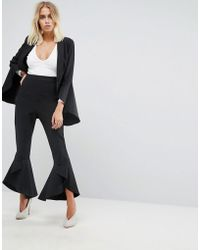 Lavish Alice - Frill Fitted Trousers - Lyst