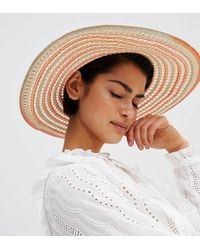 Oasis - Wide Brim Straw Hat - Lyst